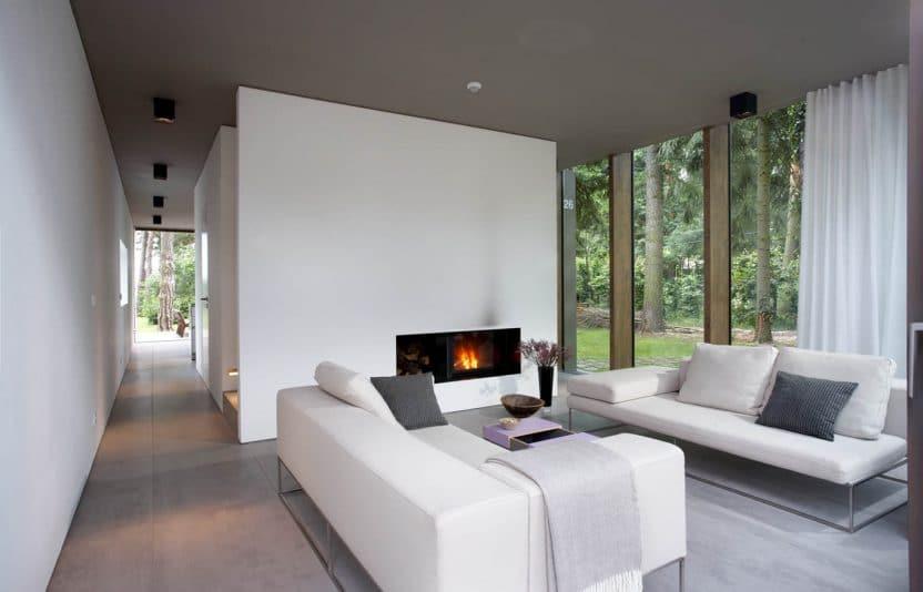glashaus im wald sch ner wohnen innenarchitektur b ro. Black Bedroom Furniture Sets. Home Design Ideas