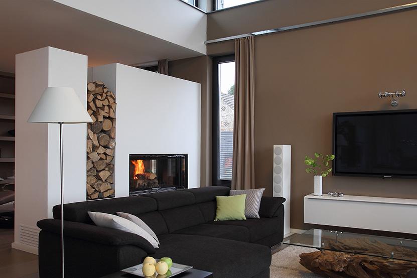 Neubau Kamin Gestaltung Innenarchitektur Wohnzimmer,
